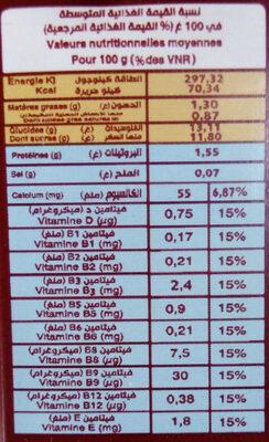 Dialna - حقائق غذائية - fr
