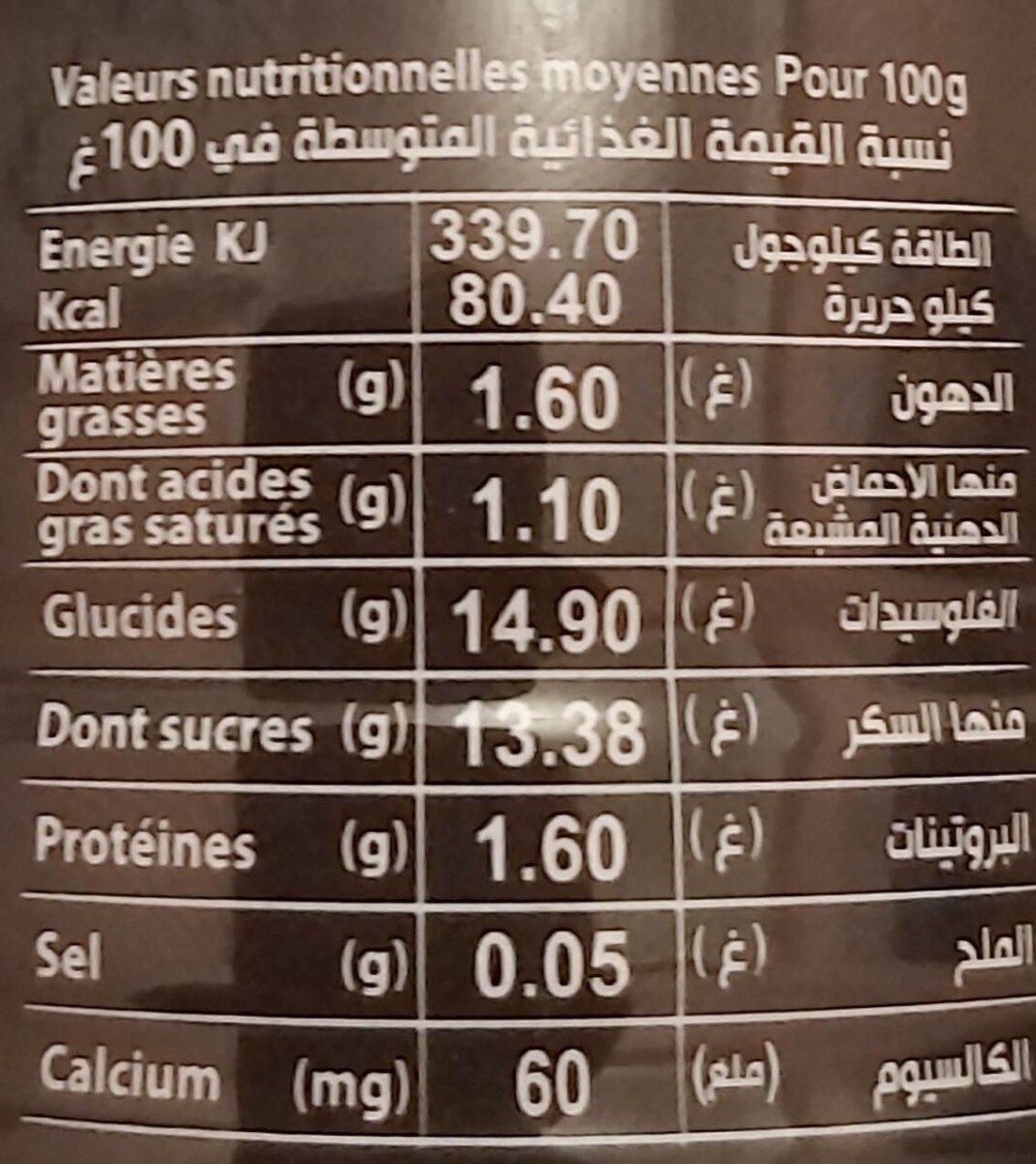 SOUMMAM les patissiers - حقائق غذائية - fr