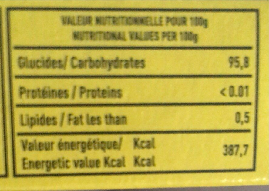 Nouara - Nutrition facts - fr