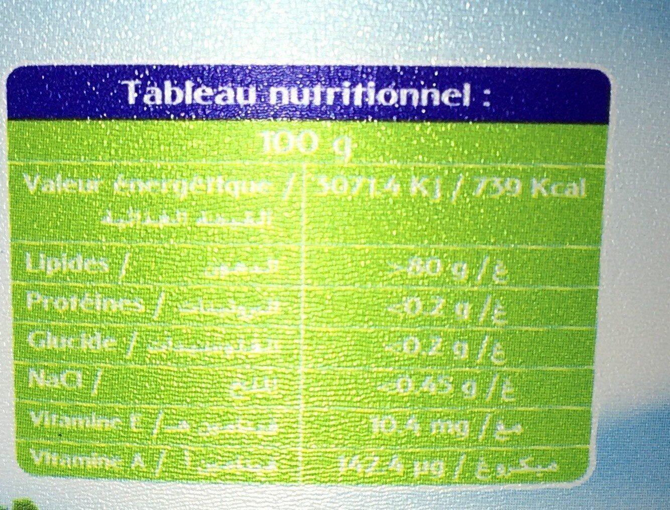 Margarine - حقائق غذائية - fr