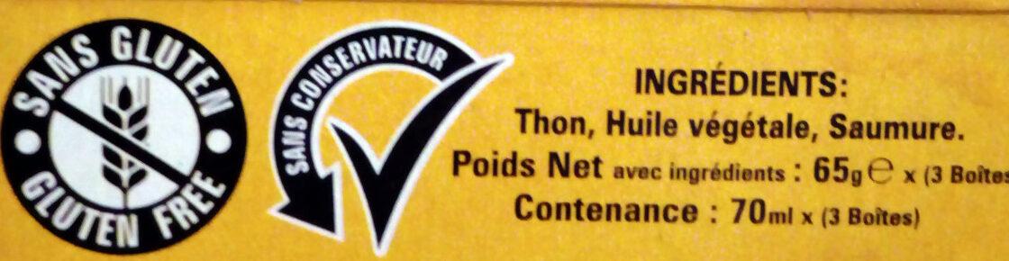 Thon entier Premium - Ingrediënten - fr