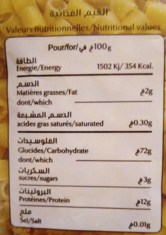 Pates Fell - Voedingswaarden - fr