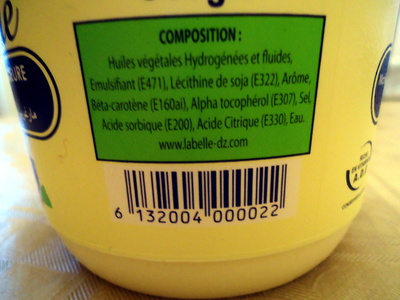 Margarine LaBelle superieure vegetale 100% - Ingrédients - fr