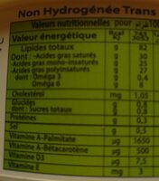 Margarine LaBelle superieure vegetale 100% - Informations nutritionnelles - fr