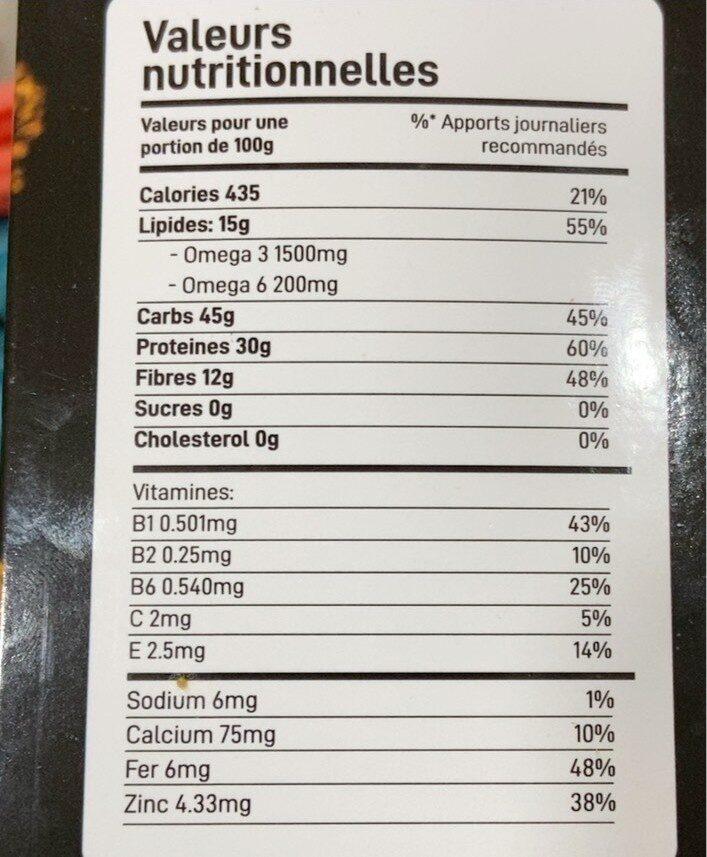 Biscuit fitness max proteine - حقائق غذائية - fr