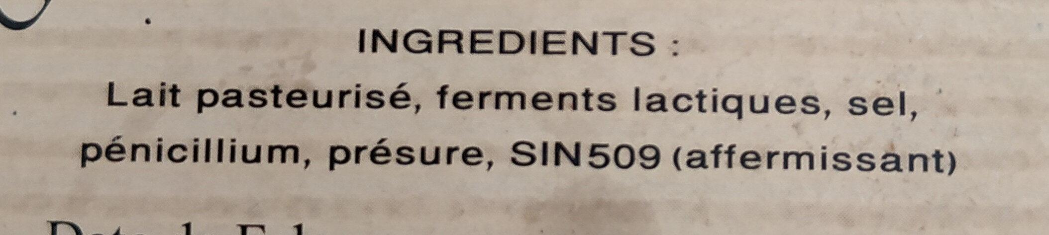 Coulommiers - Ingrediënten