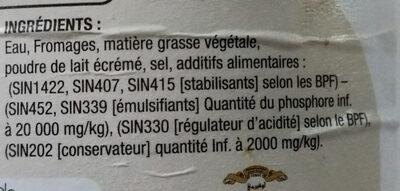 préparation fromagère - المكونات - fr