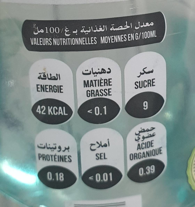 Aqua Fine - حقائق غذائية - fr