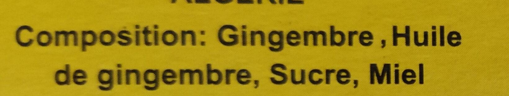 Ginger honey - المكونات - fr