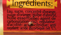Classic Eau fruitée à l'Orange - المكونات - fr