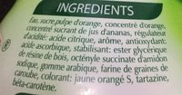 Boisson à l'orange - Ingrediënten