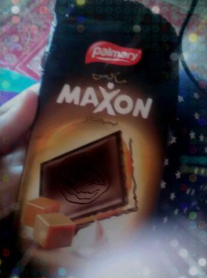 Maxon Chocolat Noir Fourré Crème & Caramel - Produit