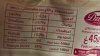 Pinto - Nutrition facts - fr