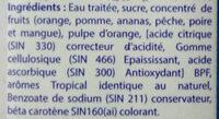 Jus de fruits - Ingrédients - fr