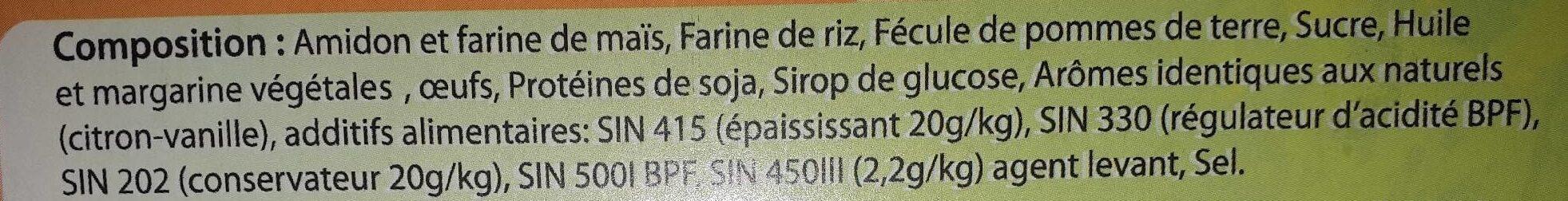 Kaâk citron vanille - المكونات - fr