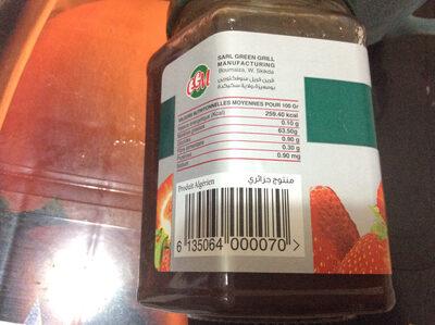 GGM confiture de Fraises - حقائق غذائية - en