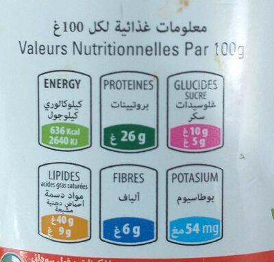 Tartinella beurre aux cacahuètes - حقائق غذائية - fr