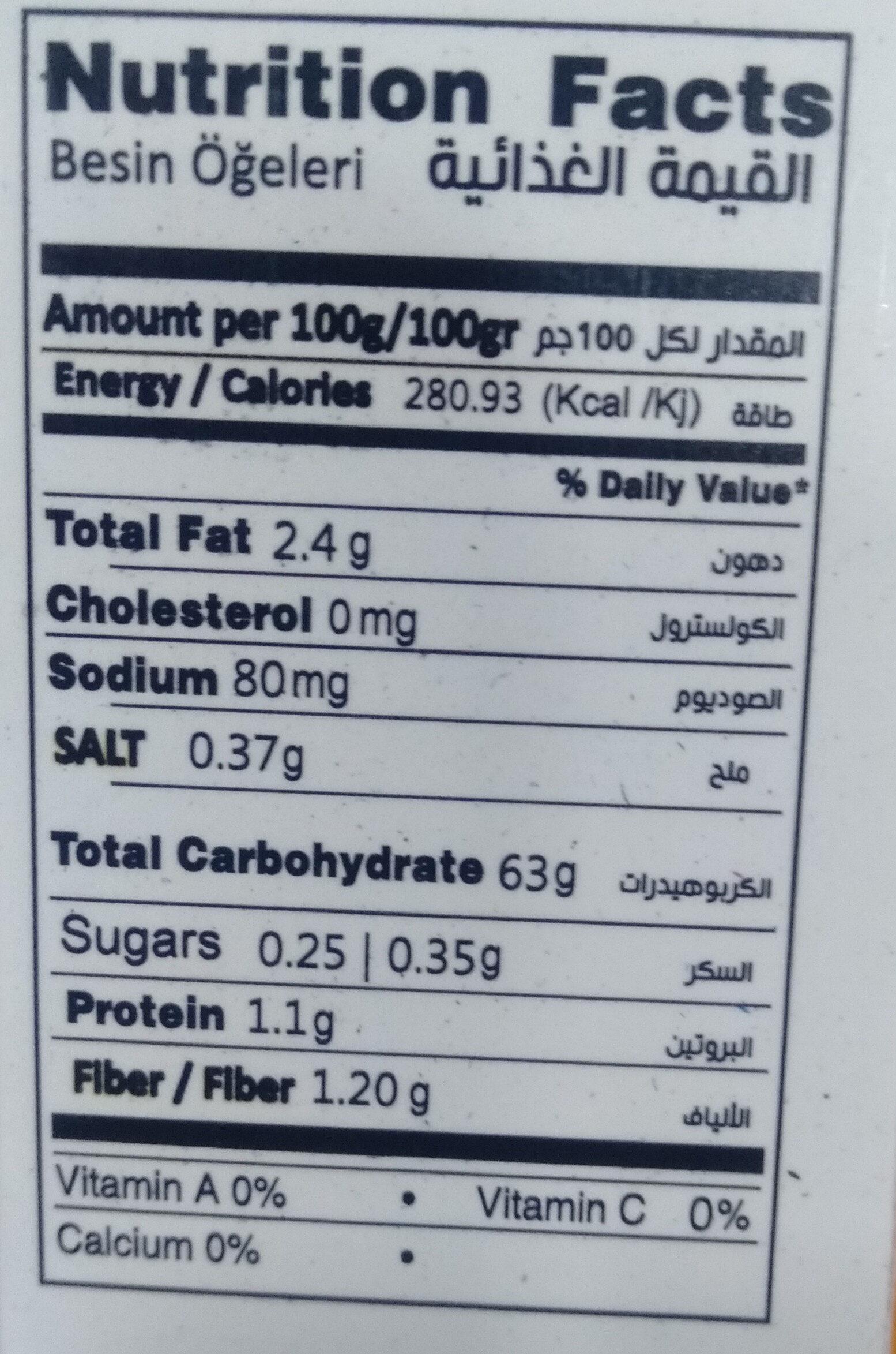Cookies sans Sucre - Voedingswaarden
