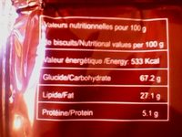 GAUFY CHOCOLAT - Informations nutritionnelles
