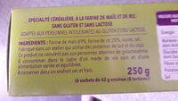 Tartines crac form - Ingrédients - fr
