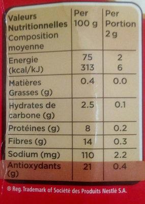 Nescafé - Nutrition facts - fr