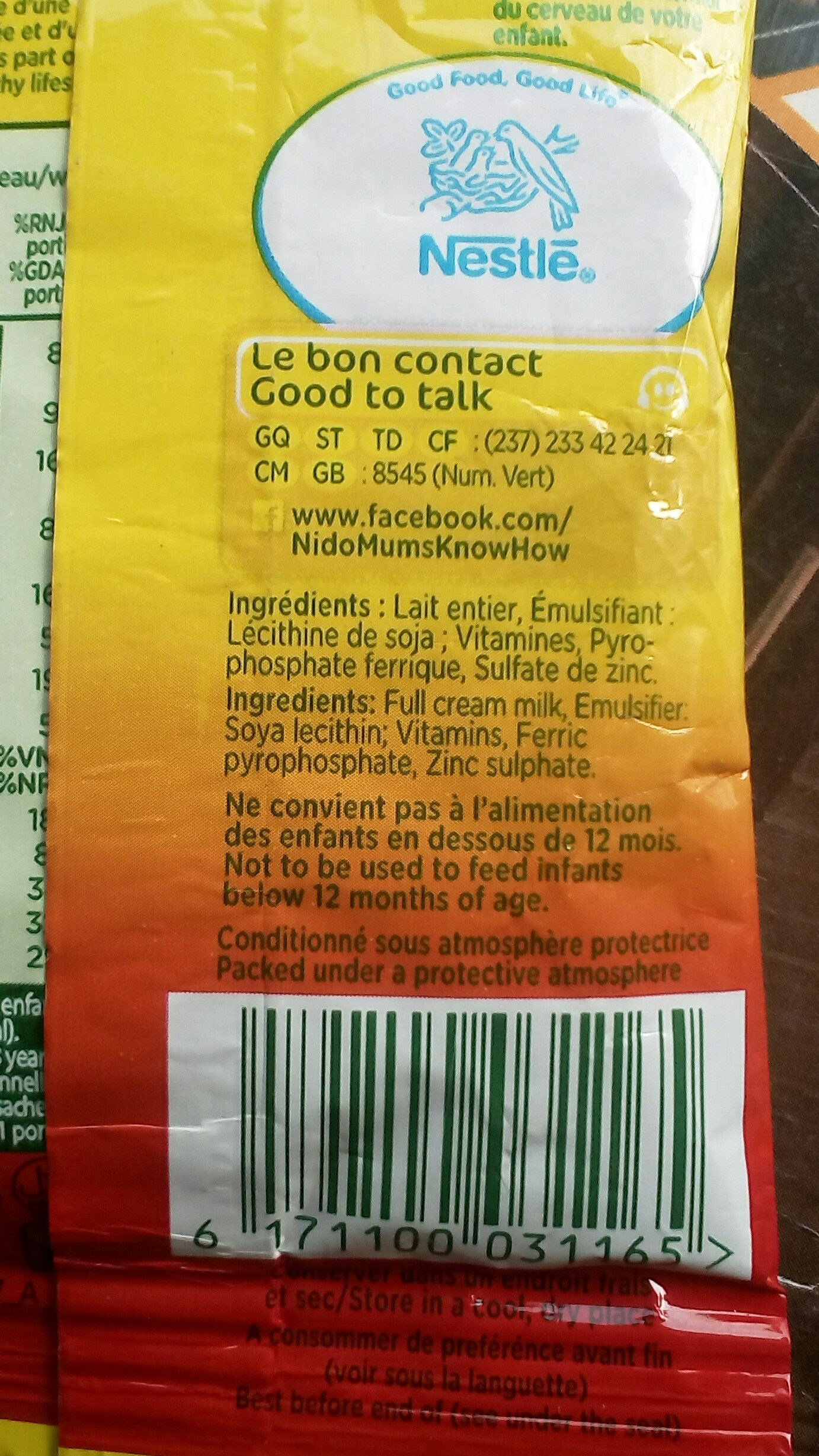 Nido - Ingredients