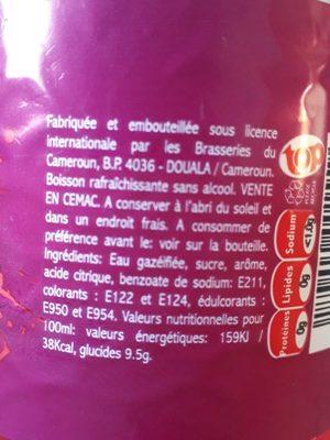 Top grenadine - Ingrédients - fr