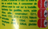 Top Ananas - Informations nutritionnelles - fr