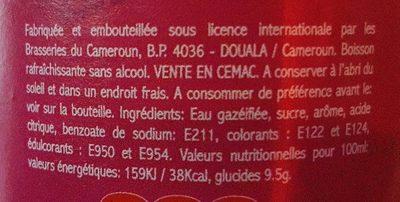 Top Grenadine - Ingredients - fr