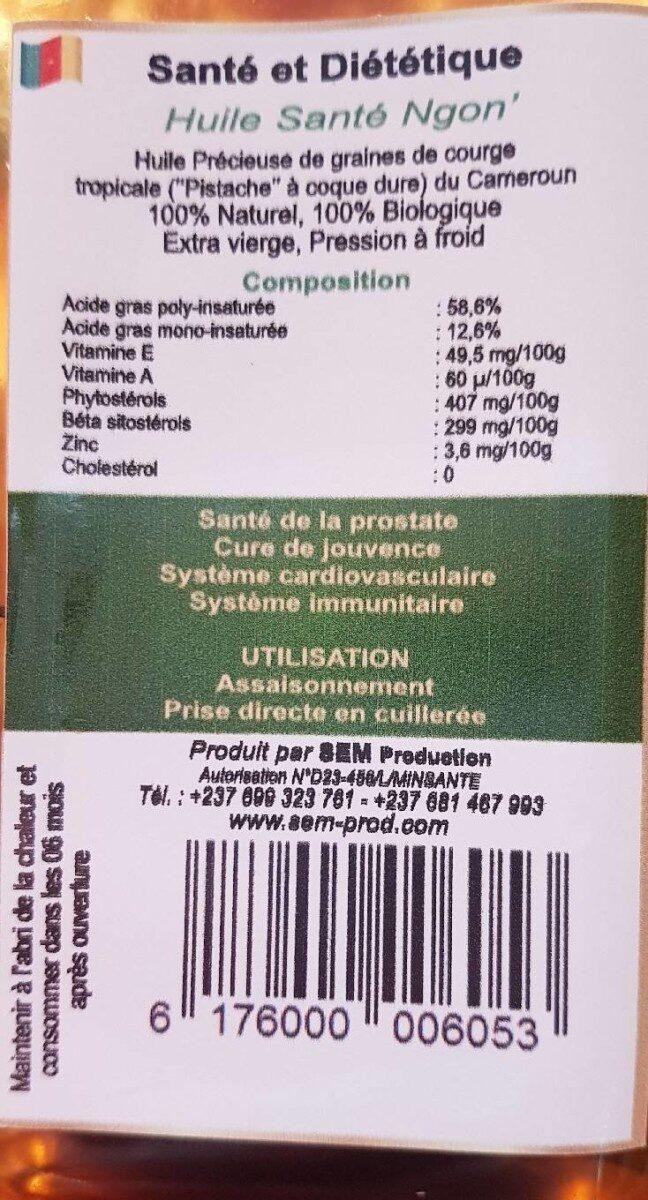 Huile santé ngon - Informations nutritionnelles - fr