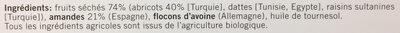 Barre fruitée - Ingredienti - fr