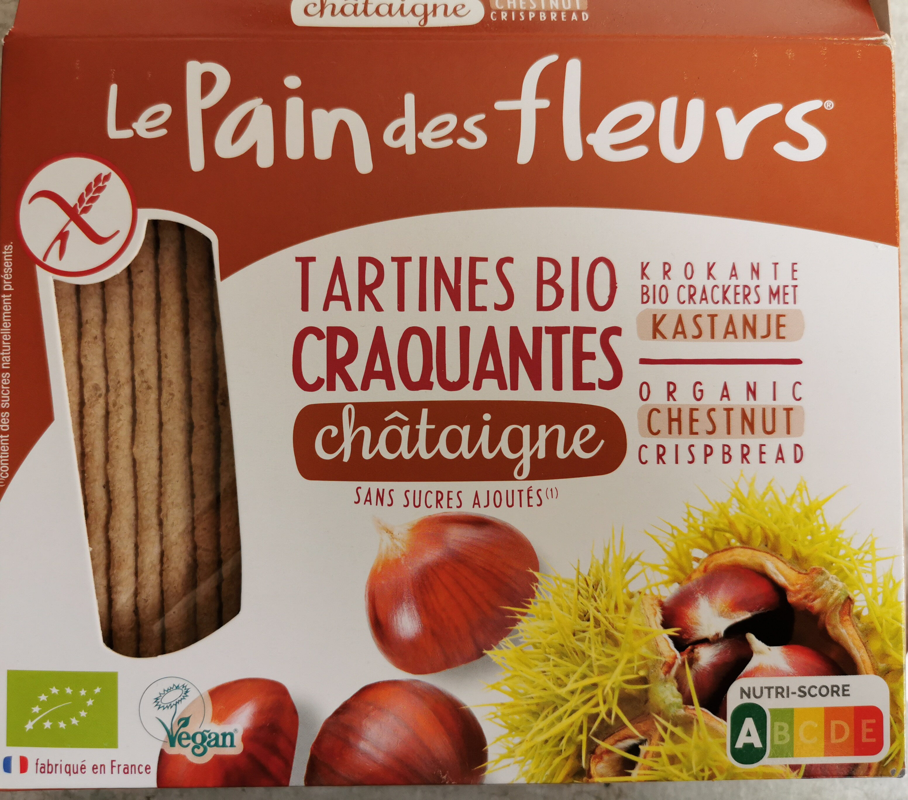 Tartines Bio Craquantes Châtaigne - Produit - fr