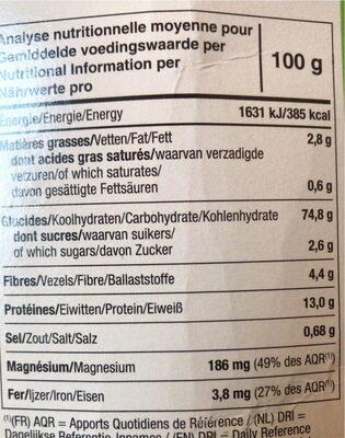 Tartines Craquantes Multi-Céréales Sans Gluten - Nutrition facts - fr