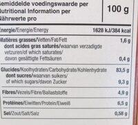 Tartines Craquantes Multi-Céréales Sans Gluten - Voedingswaarden - fr