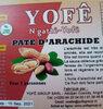 pâte d'arachide Yofê - Produit