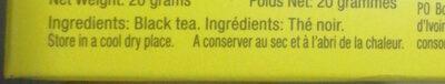 Lipton - Ingredients
