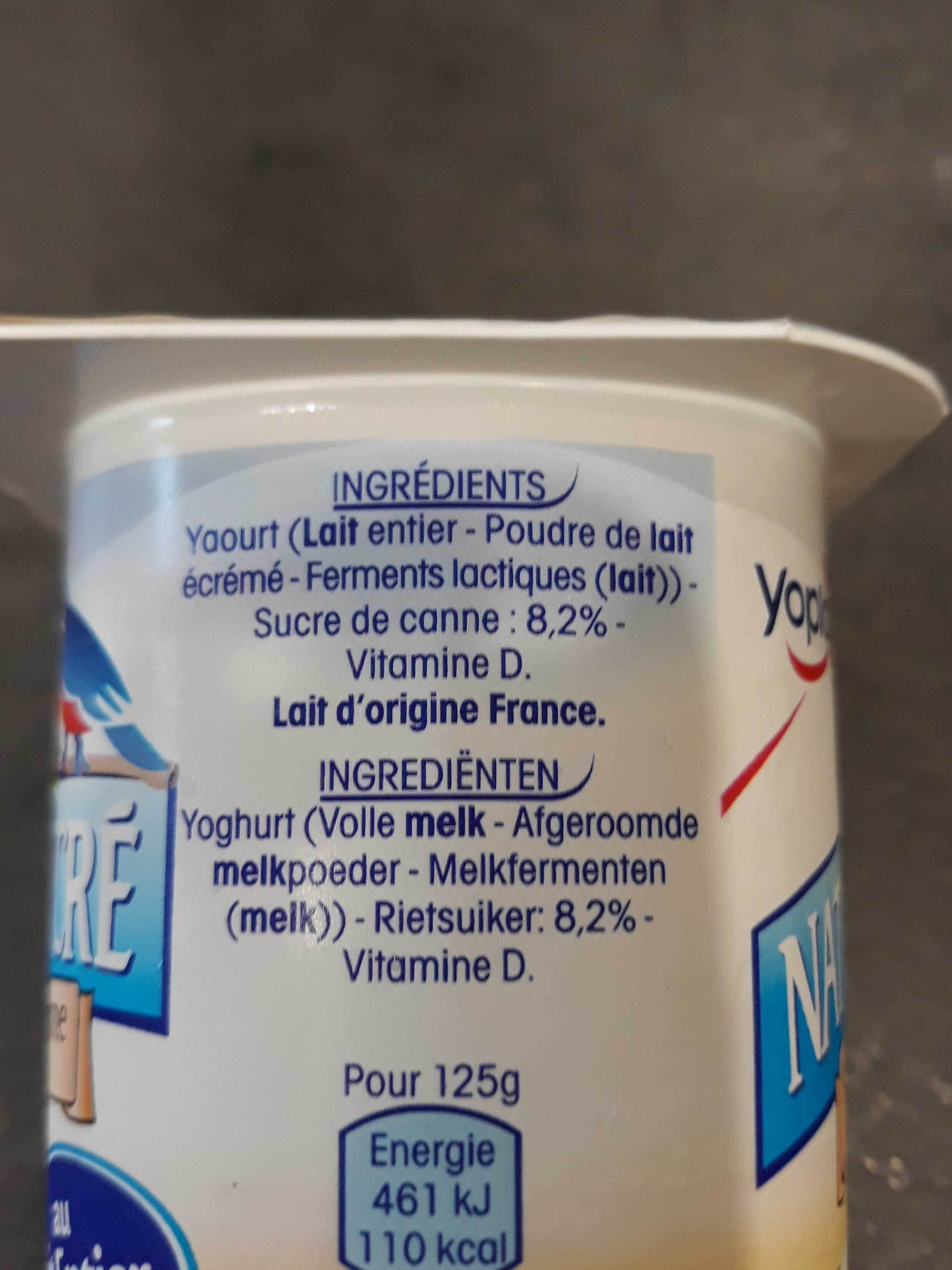 Yaourt nature - Ingrédients - fr