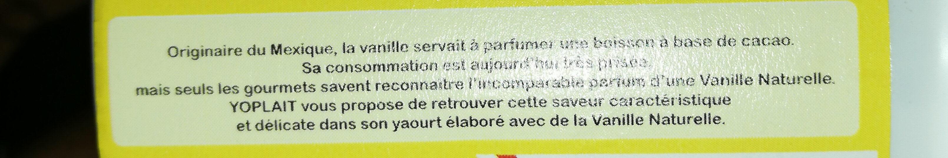 yoplait vanille - Ingrédients - fr