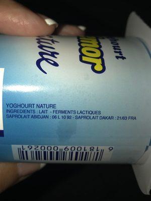 Yoghourt crémor nature - Ingrédients