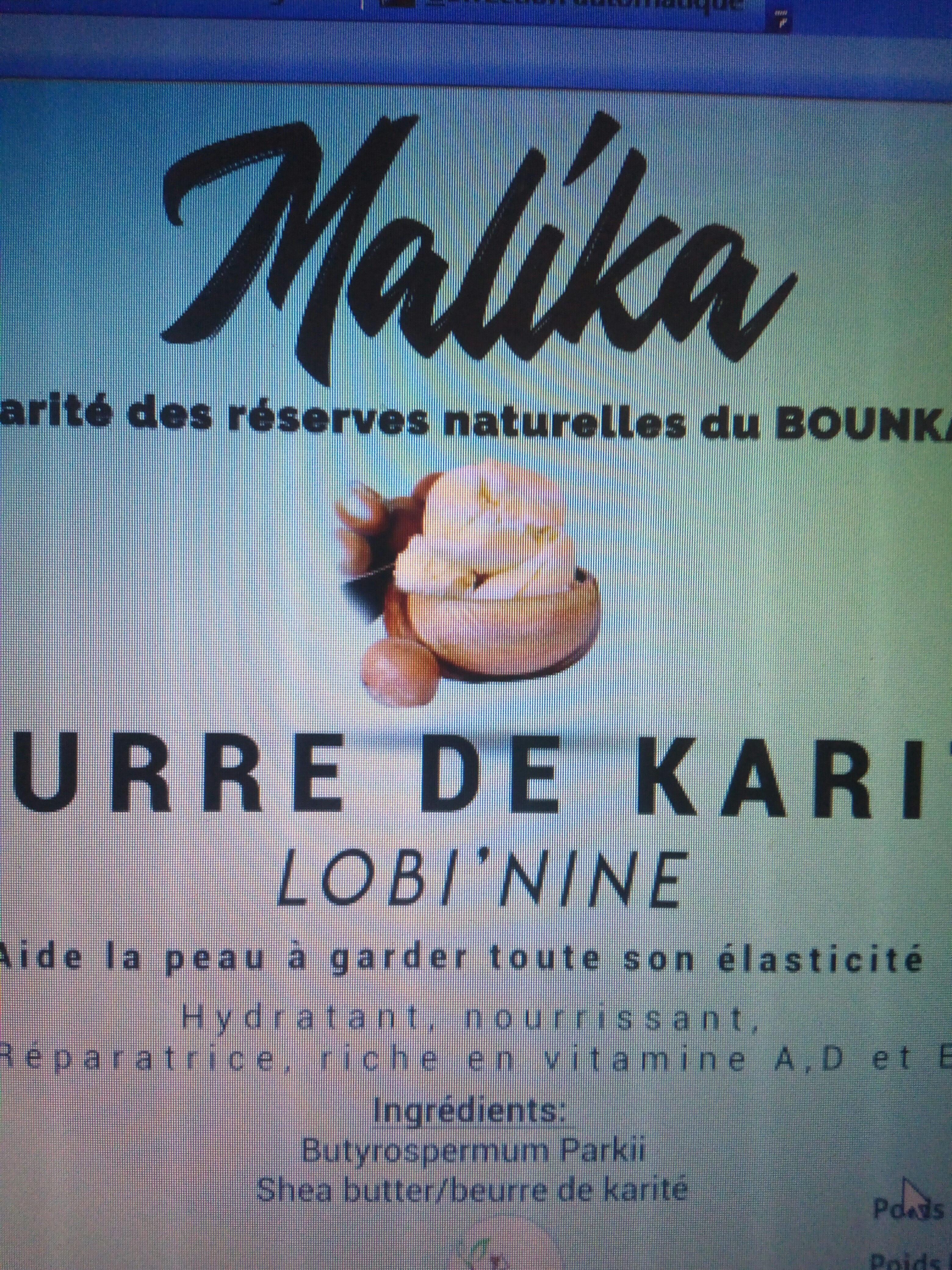 Beurre de karité - Produit