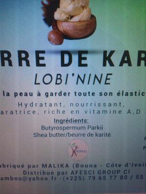 Beurre de karité - Ingrédients