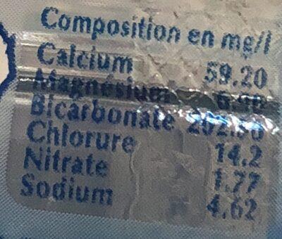 Céleste Eau minérale naturelle - Ingrédients - fr