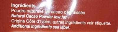 Cacao Intense - Ingredientes
