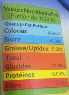 darci - Informations nutritionnelles