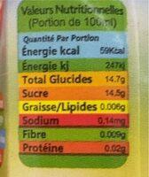 Apple drink - Voedingswaarden - fr