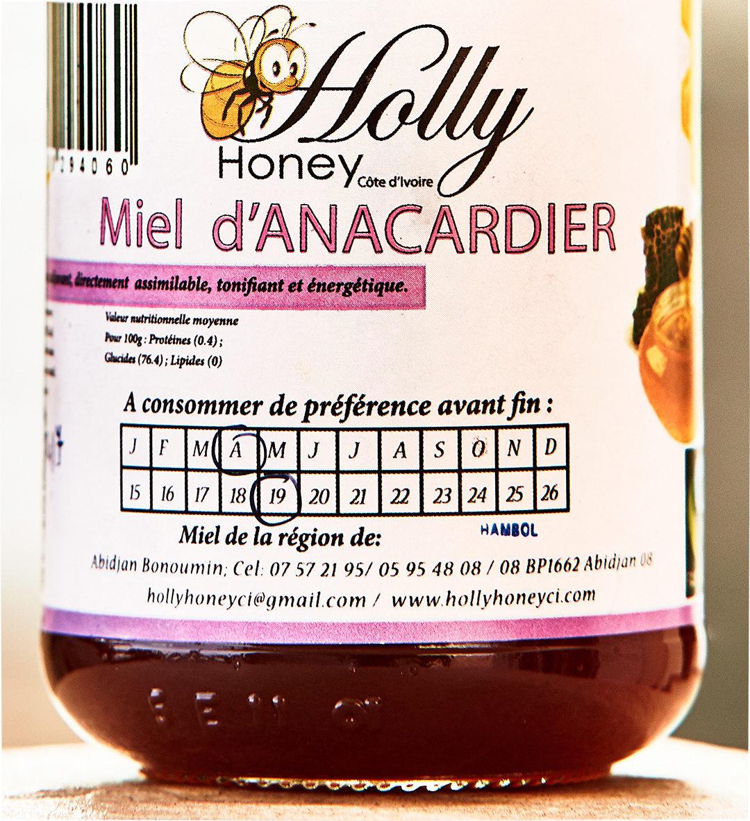 Miel d'Anacardier - Informations nutritionnelles - fr