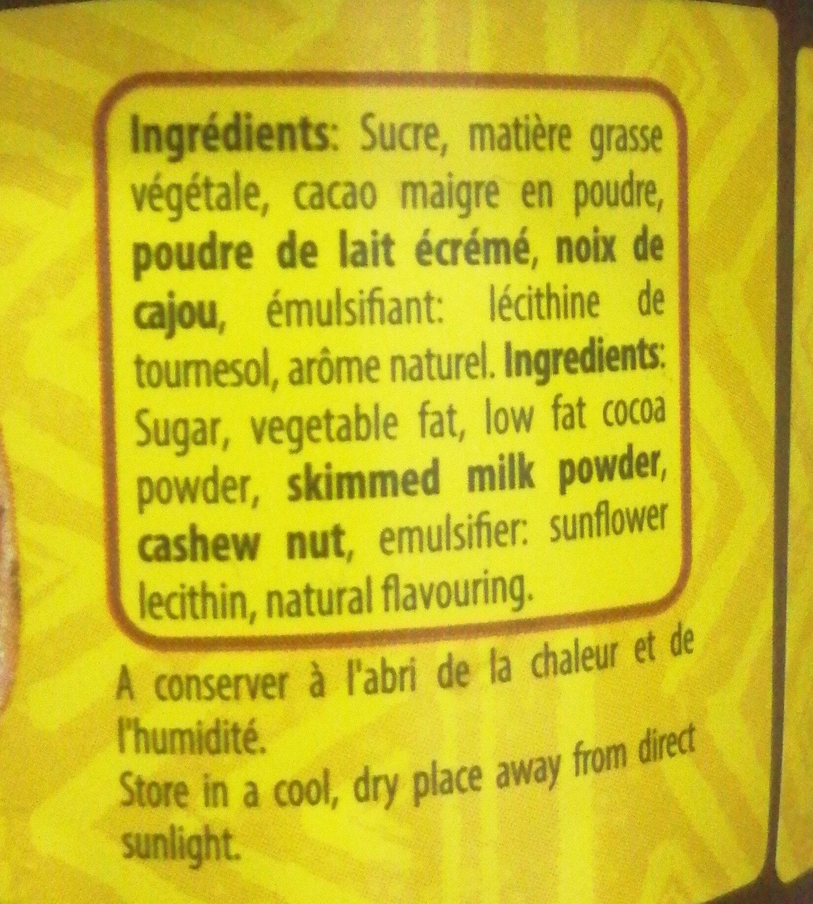 choco fun - Ingredients