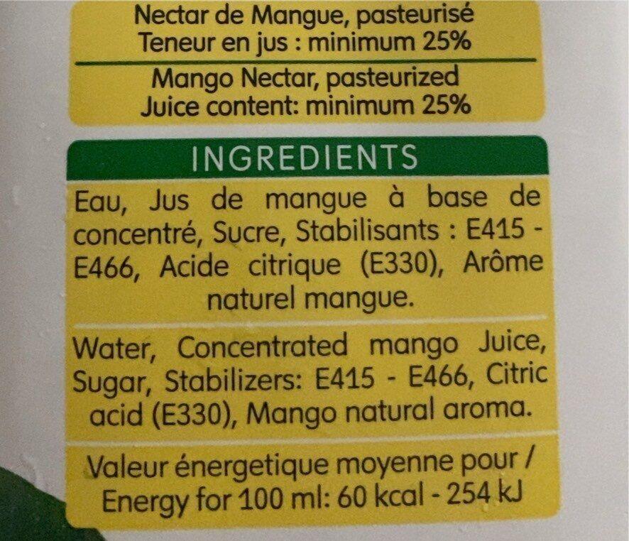 Nectar Mangue - Voedingswaarden - fr