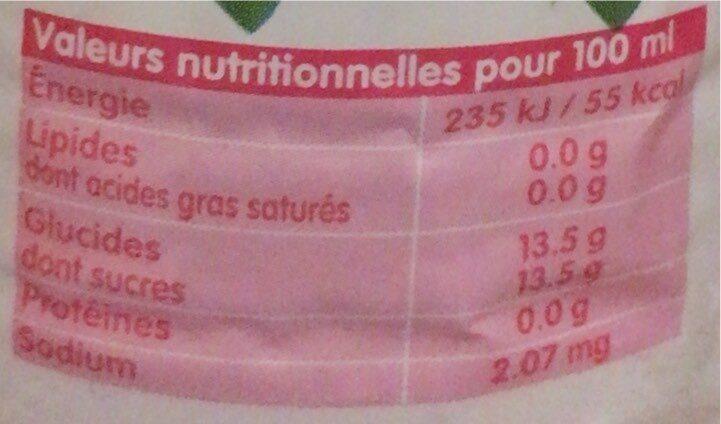 Fresh - Voedingswaarden - fr