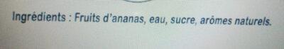 ANANAS - Ingredients - fr